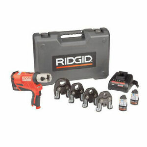 Ridgid Rp 240 Battery Press Tool Kit Propress Jaws For 1 2 To 1 1 4 Copper
