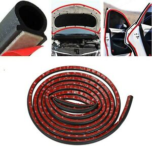 13ft D Shape Rubber Car Door Seal Strip Hollow Edge Guard Weatherstrip Universal