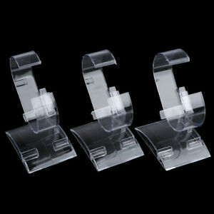 20x Clear Watch Holder Acrylic Display Stand Bracelet Rack Retail Shop Showcase