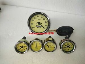 Smiths Replica 52mm Kit Temp Oil Fuel Amp Gauge Speedometer 100mm
