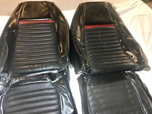 Original Factory 1969 Ford Mustang Mach 1 Comfort Weave Seat Upholstery Front