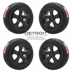 17 Jeep Compass Gloss Black Wheels Rims Tires Oem Set 4 2018 2021 9188
