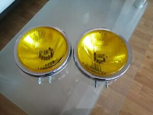 Vintage Chrome Yellow Germany Nos Oben Fog Lamp Lights No Hella Bosch Cibie