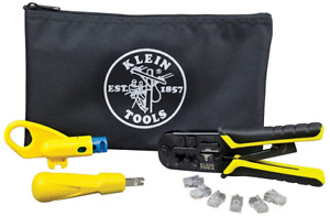 Klein Tools Vdv026 212 Data Cable Installation Kit W Zipper Pouch New Sealed