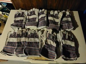 Lot 10 Prs Brand New Leather Work Gloves