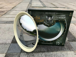 2085cw15 Inches Chrome White Baby Moon Hubcap Wheel Cover