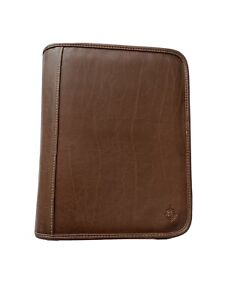Franklin Covey Leather Binder Zipper Organizer Brown 7 1 5 Cl12215