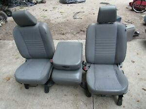 09 18 Dodge Ram Grayish Cloth Vynal Seats Center Console