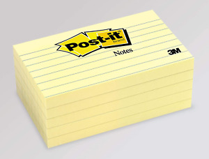 Post it Pop up Notes Canary Yellow Lined Unique Adhesive 3 X 5 5 Pads