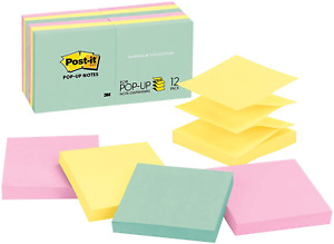 Post it Pop up Sticky Notes Marseille Collection 12 Pads 3 X 3