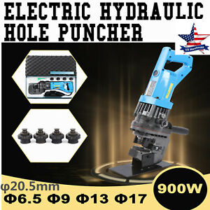 Mhp 20 Electric Hydraulic Knockout Punch Hole Puncher 900w 10 Ton W 5 Dies Set