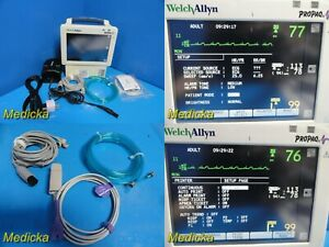 Welch Allyn Propaq Cs 246 Patient Monitor W Leads New Battery 22749