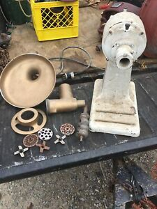 Standard Computing Scale Meat Grinder Works Fine Extra Dies And Blades Runs Good