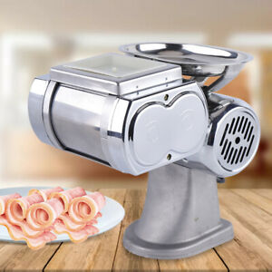 600w Commercial Stainless Meat Slicer Cutter Cutting Machine Restaurants Use