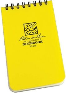 Rite In The Rain 135 Pocket Top spiral Notebook Yellow 3 X 5