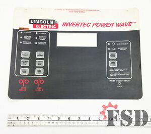 Lincoln Electric L9660 Invertec Power Wave Overlay For Welder Power Supply