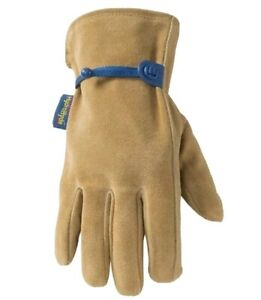 New Wells Lamont Leather Winter 3m Thinsulate Insulated Gloves Large L Hydrahyde