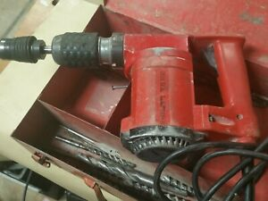 Hilti Te 22 Rotary Hammer Drill Corded 115v With Metal Case 10 Sds Bits