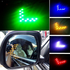 2x Accessories Auto Car Side Rear View Mirror Led 14 Smd Lamp Turn Signal Light