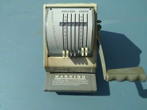 Paymaster 8500 7 Check Writer With Keys
