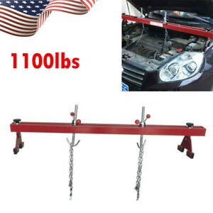1100lbs Capacity Engine Load Leveler Support Bar Transmission W Dual Hook Red