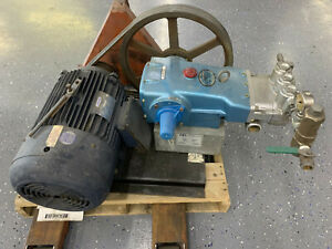 Large Pressure Washer Cat Pump 3535 With 30hp Leeson Electric Motor