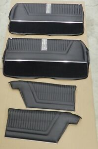 1965 Impala Ss Coupe Pre assembled Pui Front Rear Door Panel Set Black in Stk