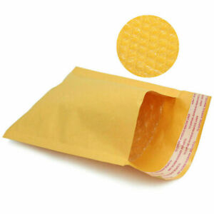 50 100 200 500 Kraft Bubble Mailers Padded Envelope Shipping Bags Seal Any Size