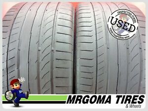 2 Continental Contisportcontact 5p Xl 275 35 19 Used Tires 59 Rmng 100y 2753519