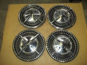 1960 60 Dodge Hubcap Rim Wheel Cover Hub Cap 14 Oem Used Set L3 Spinner