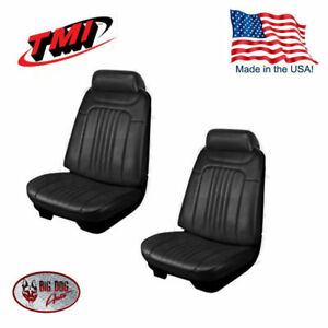 1971 1972 Chevelle Coupe Black Front rear Seat Upholstery By Tmi In Stock
