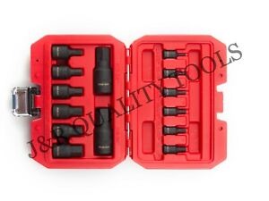 Impact Socket Hex Bits 14pc Metric Set Air Allen Driver Auto Tool