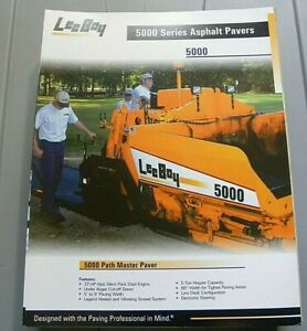 Factory Oem Dealership Brochure Leeboy 5000 Paver 1 07 Asphalt