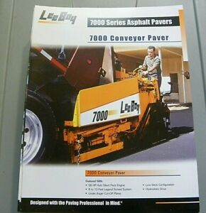 Factory Oem Dealership Brochure Leeboy 7000 Conveyor Paver 3 06 Asphalt