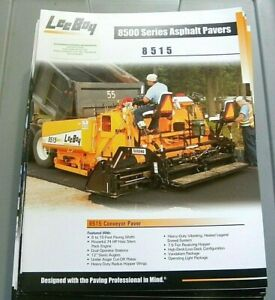 Factory Oem Dealership Brochure Leeboy 8515 Paver 5 06 Asphalt