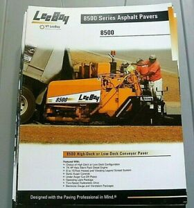 Factory Oem Dealership Brochure Leeboy 8500 Paver 2 08 Asphalt