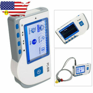 Handheld Ecg Ekg Heart Monitor Pc 80b Electrocardiograph Machine Usb Fda