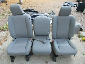 09 18 Dodge Ram Gray Cloth Vynal Seats Center Console