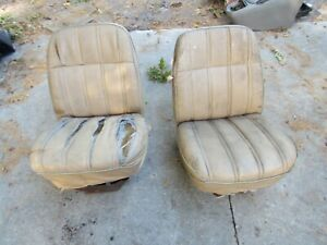 70 S Dodge Mopar Ramcharger Trailduster Van Sportsman Bucket Seats