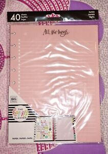 new Create 365 Mambi The Happy Planner Classic Vibrant Note Filler Paper