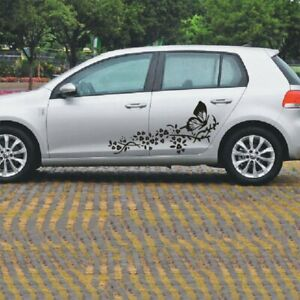Car Auto Body Sticker Flower Butterfly Self Adhesive Side Truck Graphics Decals