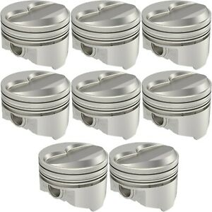 United Engine Machine Kb422 std Pontiac 400ci Hypereutectic Pistons Solid Dome 1