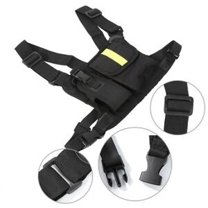 Radio Chest Strap With Bright Yellow Chest Strap Pocket Holster Vest Rig
