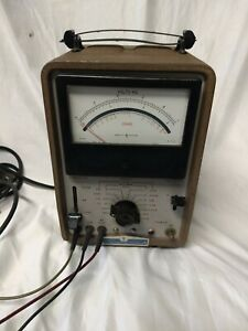 Hp 412a Vacuum Tube Voltmeter Vtvm Vintage Test Equipment untested Very Clean