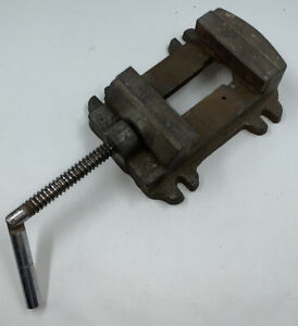 Vintage No 4 Machinists Drill Press Vise 4 Wide Jaw Opening 3 1 2 Cast Iron