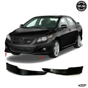 For 2009 2010 Toyota Corolla Front Bumper Lips Lower Body Kit 2 Pcs Set