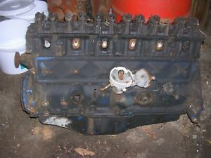 Ford 300 Ci Inline 6 Engine 1973 Model Year For Parts Or Rebuild