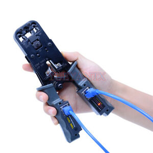 Network Tool Test Crimping Pliers Tester Crimper Cable Stripper Cable Stripping