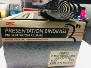 2 Boxes Of Plastic Binding Combs 2 10 Pieces Per Box 425 Sheets Black
