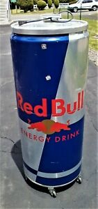Red Bull Cooler Refrigerator Electric Bottles Cans W can Inserts Beer Party